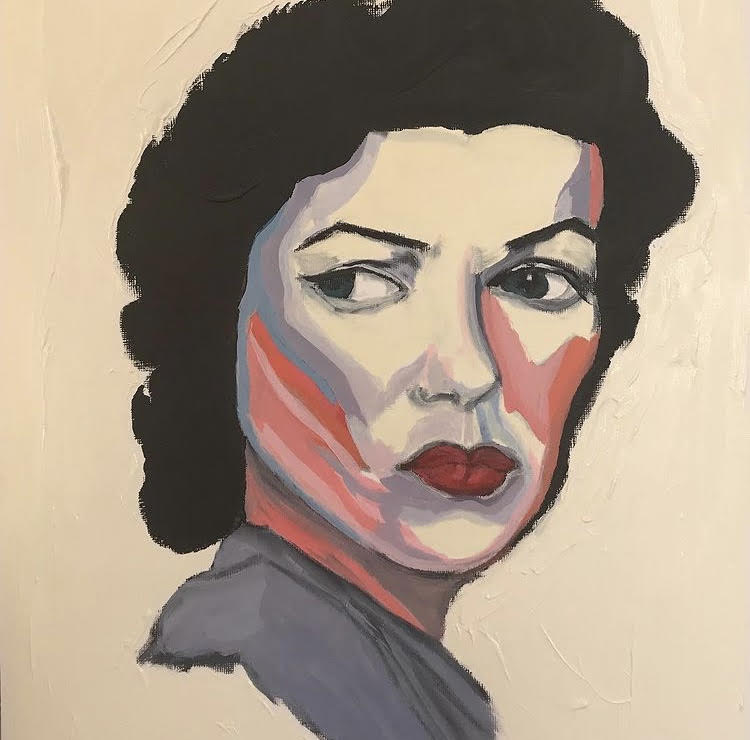 A painting of women expressing contempt